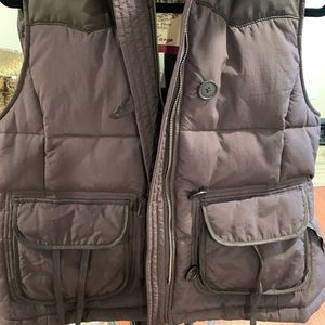 preowned ralph lauren polo woman's brown vest